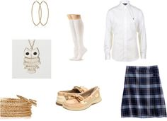 """School Uniforn Outfit"" by nia-clark on Polyvore"