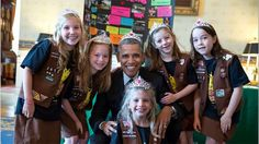 Obama Breaks All the Rules, Wears a Tiara With the Girl Scouts