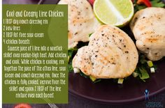Low GI Cool & Creamy Lime Chicken Recipe