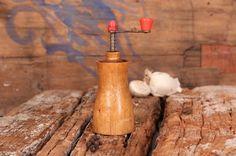 Pepper mill, Vintage grinder, Old mill, Pepper grinder, Old grinder, Manual grinder, Wooden grinder, Wooden mill, Rustic decor