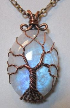 Rainbow Moonstone Tree of Life Wire Wrapped by Mariesinspiredwire by bridgette. - Rainbow Moonstone Tree of Life Wire Wrapped by Mariesinspiredwire by bridgette.j… – Rainbow Mo - Wire Pendant, Wire Wrapped Pendant, Wire Wrapped Jewelry, Wire Jewelry, Handmade Jewelry, Jewellery, Wire Wrapped Stones, Wire Earrings, Handmade Art