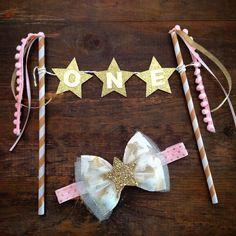 Twinkle Twinkle Little Star/ Cake Bunting by KeaganGraceDesigns