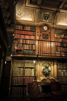 Library, Chantilly, France.