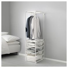 IKEA - ALGOT, Frame with rod and mesh baskets, The parts in the ALGOT series can…