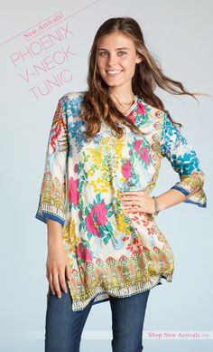 Johnny Was - 30+ New Styles Added! Refresh Your Wardrobe With Silk Tunics!