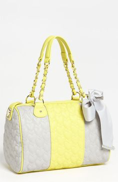 Betsey Johnson 'Be My One & Only' Satchel | Nordstrom - cute... Yellow isn't usually my favorite but I like this!