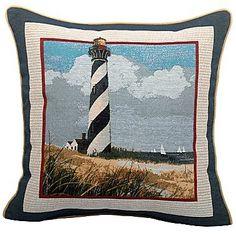 Coastal Decorative Pillow  $18  Cape Hatteras Lighthouse, Outer Banks, NC