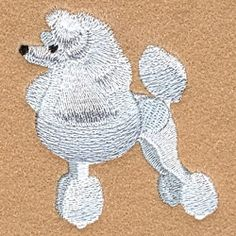 Poodle - 4x4 | Tags | Machine Embroidery Designs | SWAKembroidery.com Starbird Stock Designs