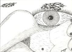Dibujado a lapiz y rotulador 21x31 cm 1995