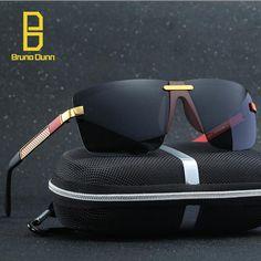 033db9dfdeb Bruno Dunn HD Grassetto Rimless Men Sunglasses