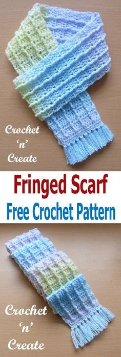 Fringed Scarf Free Crochet Pattern - Click for more info.