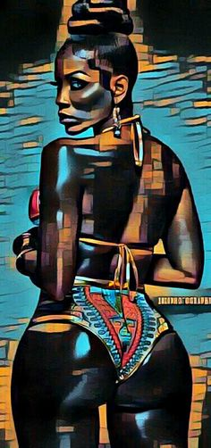 african beauty The History and definition of what is Afrofuturism Culture as liberated Black self-expression beyond expected Social Norms and Conventions Sexy Black Art, Black Girl Art, Art Girl, Black Art Painting, Black Artwork, Sexy Painting, Dope Kunst, Arte Black, Bd Art