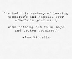 False hopes...