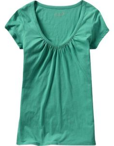 Old Navy Womens Ruched V Neck Tee...