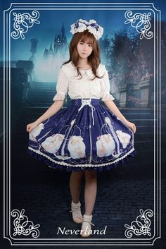 Neverland Lolita ~Aquarius~ Lolita Skirt