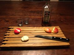 Yellowstone Distillery Bourbon Barrel Stave Serving Tray Cutting Board by WhereattWoodworking on Etsy https://www.etsy.com/listing/479198748/yellowstone-distillery-bourbon-barrel