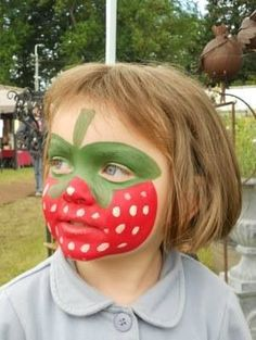 Face Painting Images, Face Painting Tips, Face Painting Designs, Painting For Kids, Simple Face Paint Designs, Halloween Makeup, Facial, Strawberry, Make Up