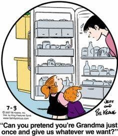 Family circus comic strip in the funny papers Grandchildren, Grandkids, Granddaughters, Family Circus Cartoon, Grandma Quotes, Grandma Memes, Grandma And Grandpa, My Children, Laugh Out Loud