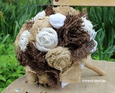 WOW! Ive been using this new weight loss product sponsored by Pinterest! It worked for me and I didnt even change my diet! I lost like 26 pounds,Check out the image to see the website, Burlap and Lace Brides Bouquet Wedding Flowers by GypsyFarmGirl, $74.99