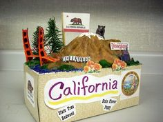 California State Float. This is awesome, and could be used to create all kinds of social studies or reading projects!