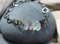 This bracelet is inspired by the Five Deep Breaths practice that invites you to pause right where you are and take five deep breaths with intention. The five fluorite stones remind you to listen to your intuition as you pause to take those deep breaths. (Try it. I really believe this simple practice will change your life.)