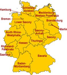 Each region in Germa