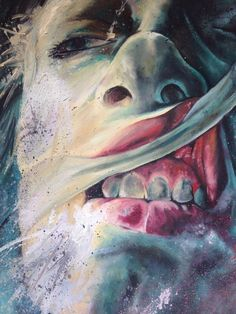 Artist copy of one of Dario Puggioni's work, who bases his work on striped back emotion and torture! - Oil Paint