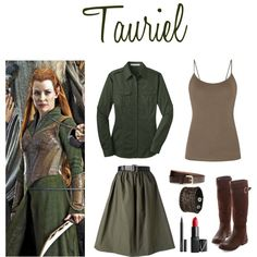 Tauriel by fandomfashions42 on Polyvore featuring Golden Goose, Nemesis, H&M, NARS Cosmetics, Witchery and BridgetsMiddleEarthFashion