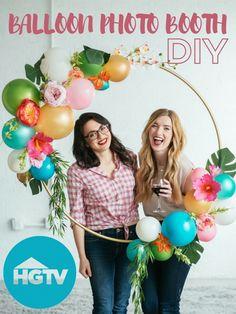DIY Balloon Photo Booth >>  http://www.hgtv.com/videos/diy-balloon-photo-booth-0266829