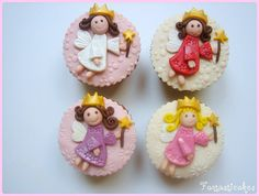 Να φτιάξω καρφίτσα για τα Χριστούγεννα.  Fairy princess cupcakes