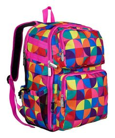 Loving this Pink Pinwheel Versapak Backpack on #zulily! #zulilyfinds