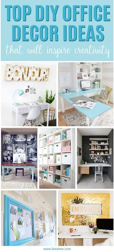 Check out some of the most popular DIY home office decorating ideas that you might want to incorporate in your own office.