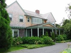 A beautifully restored Grey Gardens, currently owned by writer Sally Quinn and her husband, former Washington Post editor Ben Bradlee