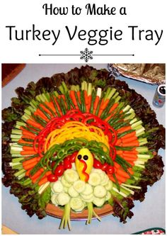 How to make a turkey veggie tray