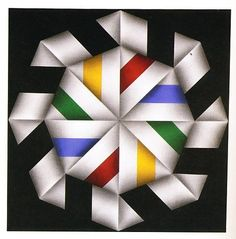 Omar Rayo Reyes, Pintores (Abstraccion geometrica)| ColArte | Colombia Barn Quilt Designs, Barn Quilt Patterns, Patchwork Patterns, Quilting Designs, Op Art, Optical Illusion Quilts, Fractal Art, Fractals, Illusion Art