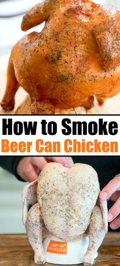 Smoked beer can chicken is so amazing Whether you have a pellet or electric smoker you ll love how easy a whole chicken is to cook Get ready smokerrecipes smoked chicken smokedchicken beercanchicken electricsmoker Smoked Beer Can Chicken, Smoked Chicken Recipes, Beer Chicken, Canned Chicken, Chicken Smoker Recipes, Electric Smoker Beer Can Chicken Recipe, Electric Smoker Recipes, Chicken Curry, Recipes