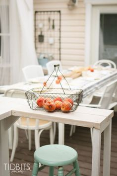 Find inspiration and encouragement to enjoy your outdoor spaces, through our Fall home tour on the deck. The best time of year to be outside! Halloween Buffet, Fall Halloween, Thanksgiving Tablescapes, Thanksgiving Decorations, Lower Belly, Breath Of Fresh Air, Autumn Home, Holiday Decorating, House Tours