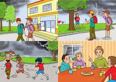 Historyjki obrazkowe dla przedszkolaków. Bezpieczeństwo
