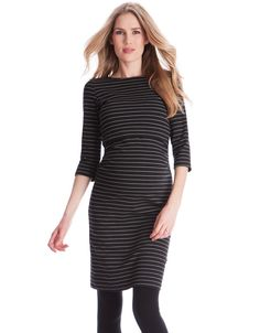 f5b87bcda6464 Lift up access for nursing Soft stretch jersey ¾ Sleeves above the knee A  little striped dress is an essential style in every woman's wardrobe, ...