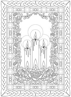 Welcome to Dover Publications Dover Coloring Pages, Adult Coloring Pages, Coloring Sheets, Free Coloring, Coloring Books, Dover Publications, Christmas Coloring Pages, Christmas Colors, Line Art