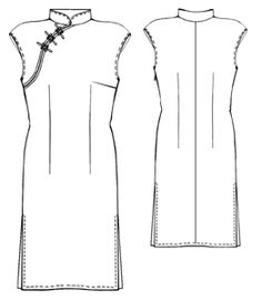 Cheongsam pattern - PDF w/instructions