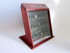 Vintage Boye Sewing Needles Advertising Display Case with Needles