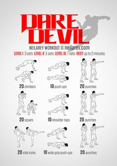 daredevil workout