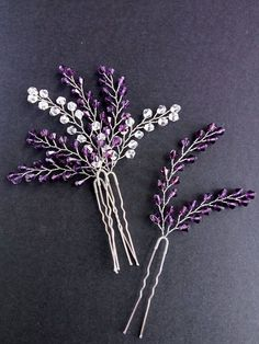 Hairpin lavender Hairpin set of 4 Crystals hair pins Bridal pins Wedding hair pi. - - Hairpin lavender Hairpin set of 4 Crystals hair pins Bridal pins Wedding hair pins Set hairpins Silver hairpin Hair Set bridal hair pin These hairpins. Hair Accessories For Women, Wedding Hair Accessories, Accessories Online, Jewelry Accessories, Fashion Accessories, Wedding Hair Pins, Diy Wedding, Wedding Vows, Wedding Venues