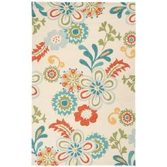 Hand-hooked Kim Transitional Floral Indoor/ Outdoor Area Rug (8' x 10'6) - Free Shipping Today - Overstock.com - 16297495 - Mobile