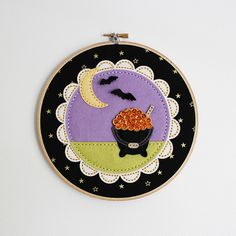 Beaded Cauldron Embroidery Hoop by Lizzie Jones for Papertrey Ink (August 2016)