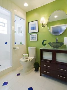 green bathroom images | How To Use Green In Bathroom Designs