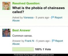 Phobia of chainsaws