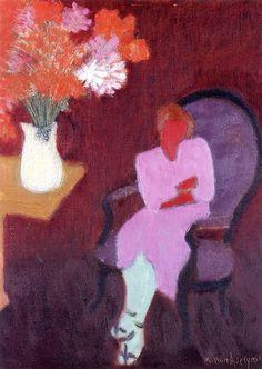 Seated Woman Milton Avery - 1953
