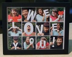 Photo Gifts Using Framed Letter Pictures